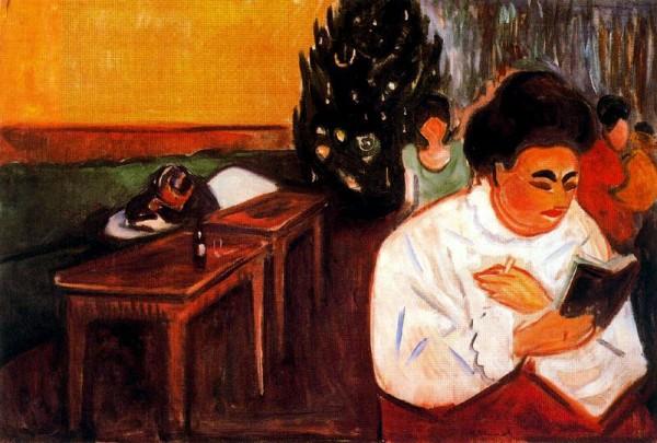 """Christmas in the Brothel"" by Edvard Munch, via"