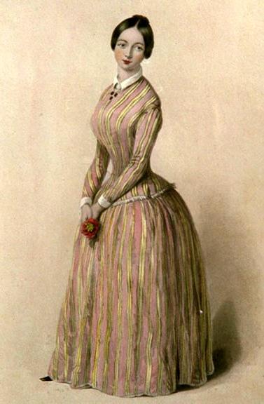 "A grisette, a young 19th century working-class French woman, like Fantine (""La Grisette"" by Robert Richard Scanlon, image part of public domain)"