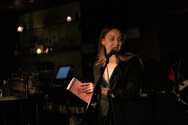 Melissa Petro, Pros(e)'s editor, at a reading. Photo by David Kornfield, courtesy of the Red Umbrella Project.