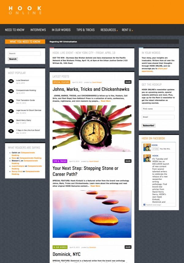 screenshot from Hook-Online.com