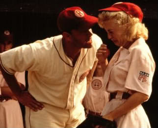 Still from A League Of Their Own. If there's no crying in baseball then there's no crying at work.