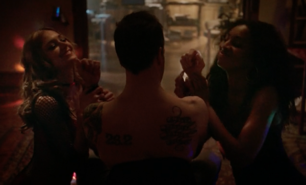 "Larcenous stripper: my future career (Screenshot from ""The Deductionist,"" S1E14, Elementary, CBS)"