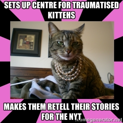 One of Melissa Gira Grant's Carceral Feminist Cat memes at carceralfeministcat.tumblr.com