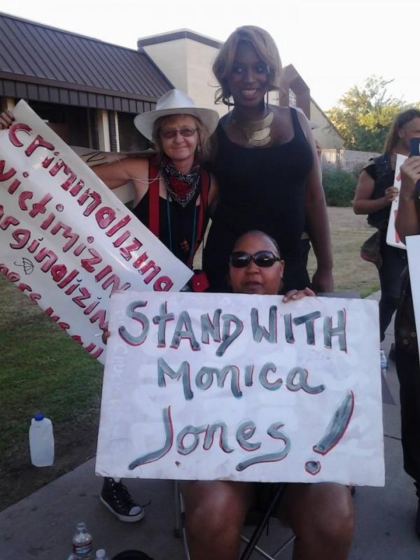 Monica Jones with other SWOP-Phoenix members (Photo by Peggy Plews, courtesy of SWOP-Phoenix)