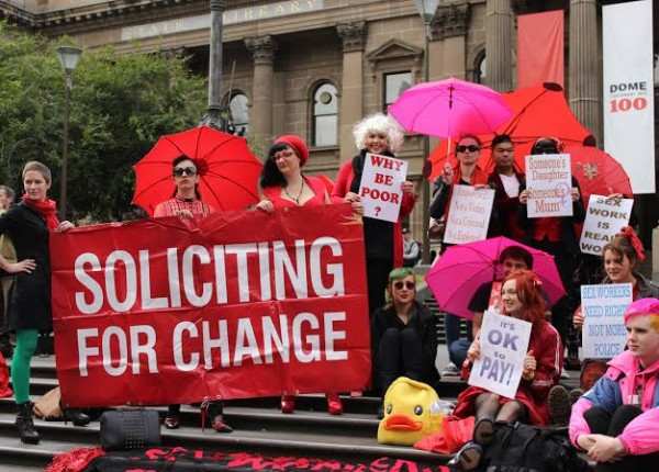 Victorian sex workers at a December 17th event (photo courtesy of Jane Green)