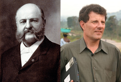 L: Anthony Comstock R: Nick Kristof