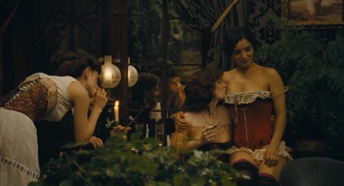 Opium smoking in </i>House of Pleasures<i> (Screenshot)