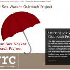 (Screenshot of Graf and O'Neill's Student Sex Worker Outreach Project page on the Portland State University's Women's Resource Center's website)