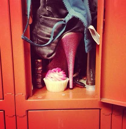 Yet more cupcakes in  more strip club lockers (Photo by Red)