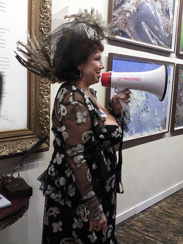 Annie Sprinkle: a woman who needs to get back in touch with her movement rather than speaking over it (Photo by Creatrix Tlara, via her flickr and the Creative Commons)