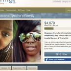 Half of the $17000 fundraising goal for Angelia Mangum and Tjhisha Ball has been met.