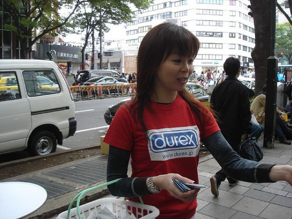 Visual approximation of Ms. Harm Reduction as the Durex spokesperson. (Photo by David Lisbona [Flickr user dlisbona] via the Creative Commons.)