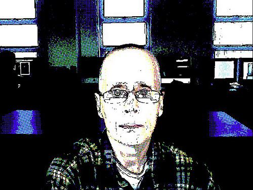 """Vampire Days,"" a self-portrait by Leslie Feinberg on hir 60th birthday. (Photo via Feinberg's Flickr account)"