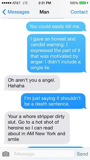 (Screenshot of texts Lane received from the man referenced in this piece, courtesy of Lane Champagne)