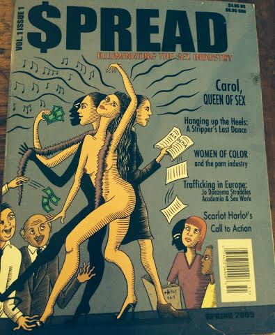 Caty's well worn copy of $pread's very first issue.