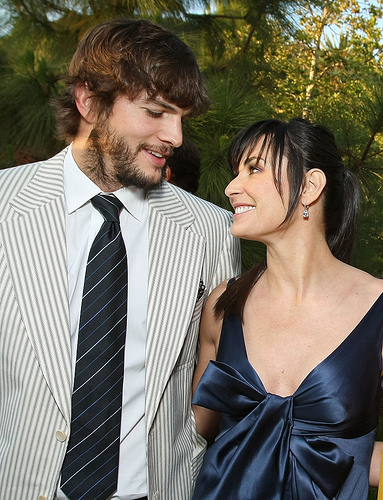 Demi Moore and Ashton Kutcher at the 7th Annual Chrysalis Butterfly Ball in May2008 in Los Angeles. (Photo by Eric Charbonneau/WireImage via Flickr)