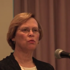 "Donna Hughes. (Screenshot from video presentation, ""Analysis of Human Trafficking Cases in Rhode Island, 2009-2013"")"