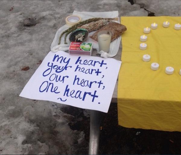 Medicines at a Justice for Cindy Gladue Rally in Ontario. (Photo via Ariel Smith)