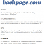 (Screenshot of Backpage's July 10th email to users)