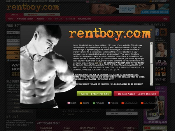 A recent Renboy.com screenshot, before the raid.