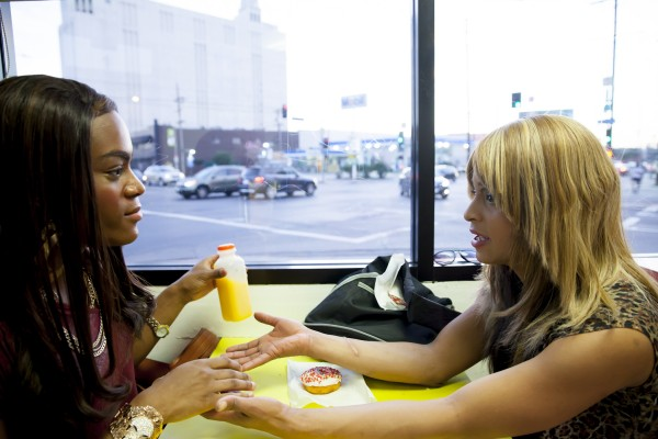 Mya Taylor and Kitana Kiki Rodriguez in TANGERINE, a Magnolia Pictures release. (Photo courtesy of Magnolia Pictures.)