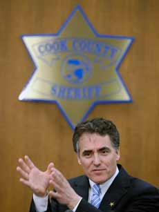 Cook County Sheriff Tom Dart. (Via Cook County Sheriff website)