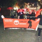 SWOP-Sacramento takes to the streets on before hosting their December 17th 2015 candlelight vigil. (Courtesy of SWOP-USA and local SWOP chapters)