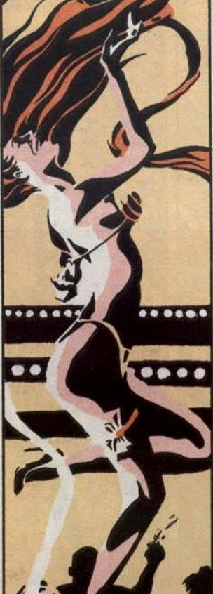 The goddess Ishtar as a 90s era stripper in Neil Gaiman's Sandman.