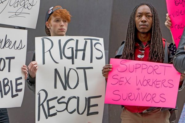 Demonstration in support of Alisha Walker on March 31st, at Chicago's Daley Plaza. (Courtesy of Bob Simpson)